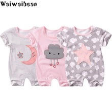 Waiwaibear Summer Baby Rompers Infant Girls boys Clothes Newborn Short Sleeve Jumpsuits JJ1
