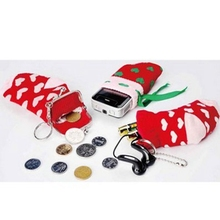 Christmas gift ideas mini multi-purpose bags three-piece sets of mobile phone sets + change + debris cover