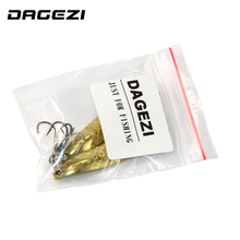 DAGEZI Gold Metal Sequins Fishing Lure Spoon Lure  Noise Paillette Hard Baits Treble Hook Pesca Fishing Tackle