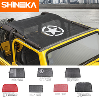 SHINEKA Car Covers for Jeep wrangler tj 1997 2006 Top Sunshade Mesh Car Cover Roof Trunk UV Proof Protection Net for wrangler TJ