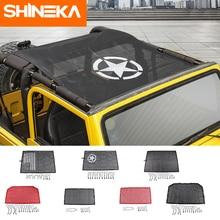 Shineka capa para carro, para jeep wrangler tj 1997 2006, proteção contra o sol, de malha, para teto de carro, à prova d água uv rede para wrangler tj