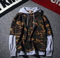 NEW Fashion Mens Casual Thin Hip Hop Camouflage Hoodies Sweatshirt Men Camo Sport Hoodie