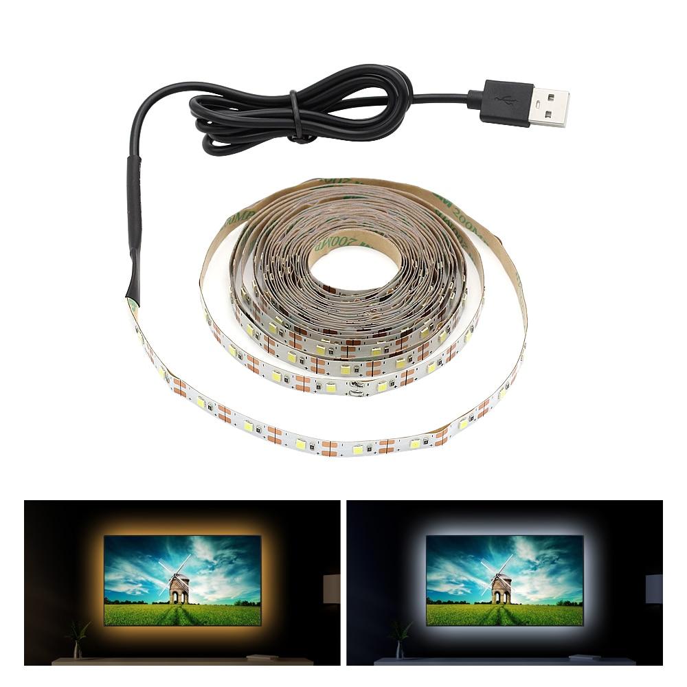 5V USB Cable LED Strip Light TV Background Lighting 1m 2m 3m 4m 5m LED 2835 SMD Strip Lamp