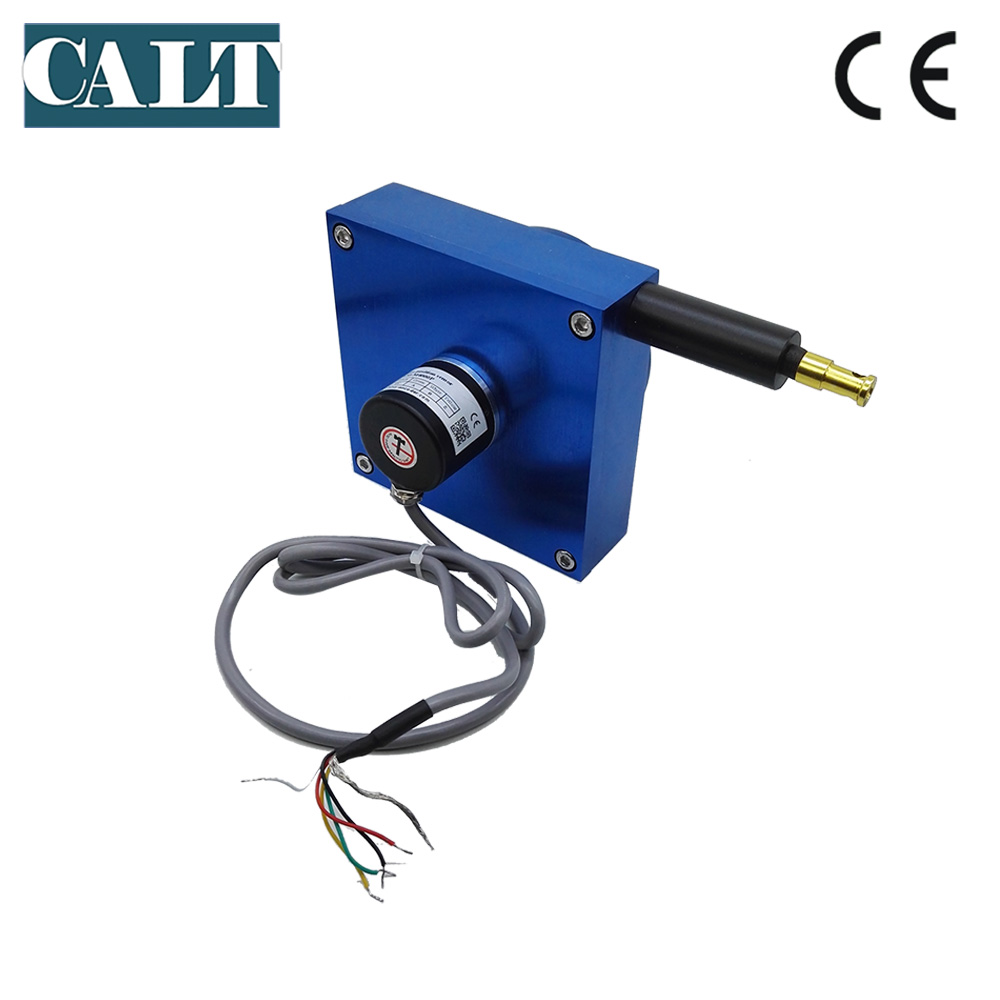 CALT 4000mm Draw wire linear sensor measuring instrument cable pot displacement transducer digital output