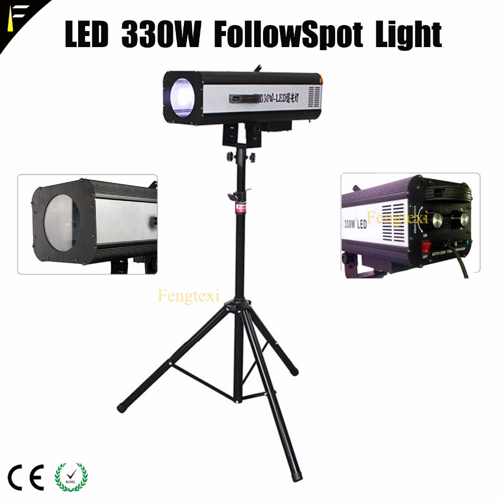Super Smooth LED Dimming Follow Spot Search Light Fixture With 1.9m Adjustable Tripod Followspot Light Following The Performers Super Smooth LED Dimming Follow Spot Search Light Fixture With 1.9m Adjustable Tripod Followspot Light Following The Performers