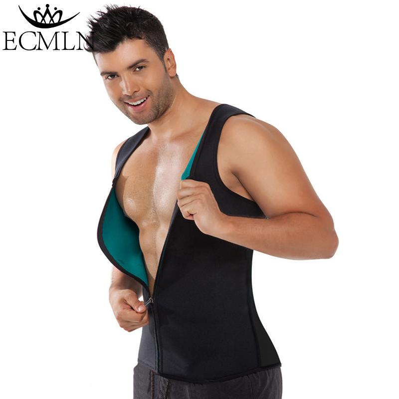 2019 Men Waist Trainer Body Shapers Weight-Loss Shapers Neoprene Workout Slimming Belly Fat Burning image