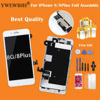 YWEWBJH For iPhone 8 8P 7G 7P LCD Display Touch Screen Digitizer Assembly Replacement Full Set+ Front Camera+Earpiece Speaker