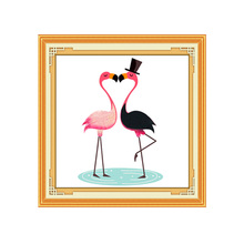 5d Diy Diamond Painting flamingos  picture Full Square Cross Stitch Diamond Embroidery Animal  Mosaic Home Decoration 3d diy diamond painting horse picture mosaic 5d cross stitch full square diamond embroidery kits animal painting home decor