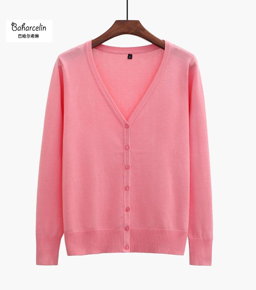 15 Feste Farben Neue Pullover Frauen Strickjacke Strickpullover Mantel Langarm Häkeln Weiblichen Casual V-ausschnitt Frau Strickjacken Tops