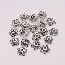50pcs/Lot 10mm 5 Petals Hollowed Flower Loose Sparer End Bead Caps For Jewelry Making Finding DIY Bracelet Accessories Component стоимость
