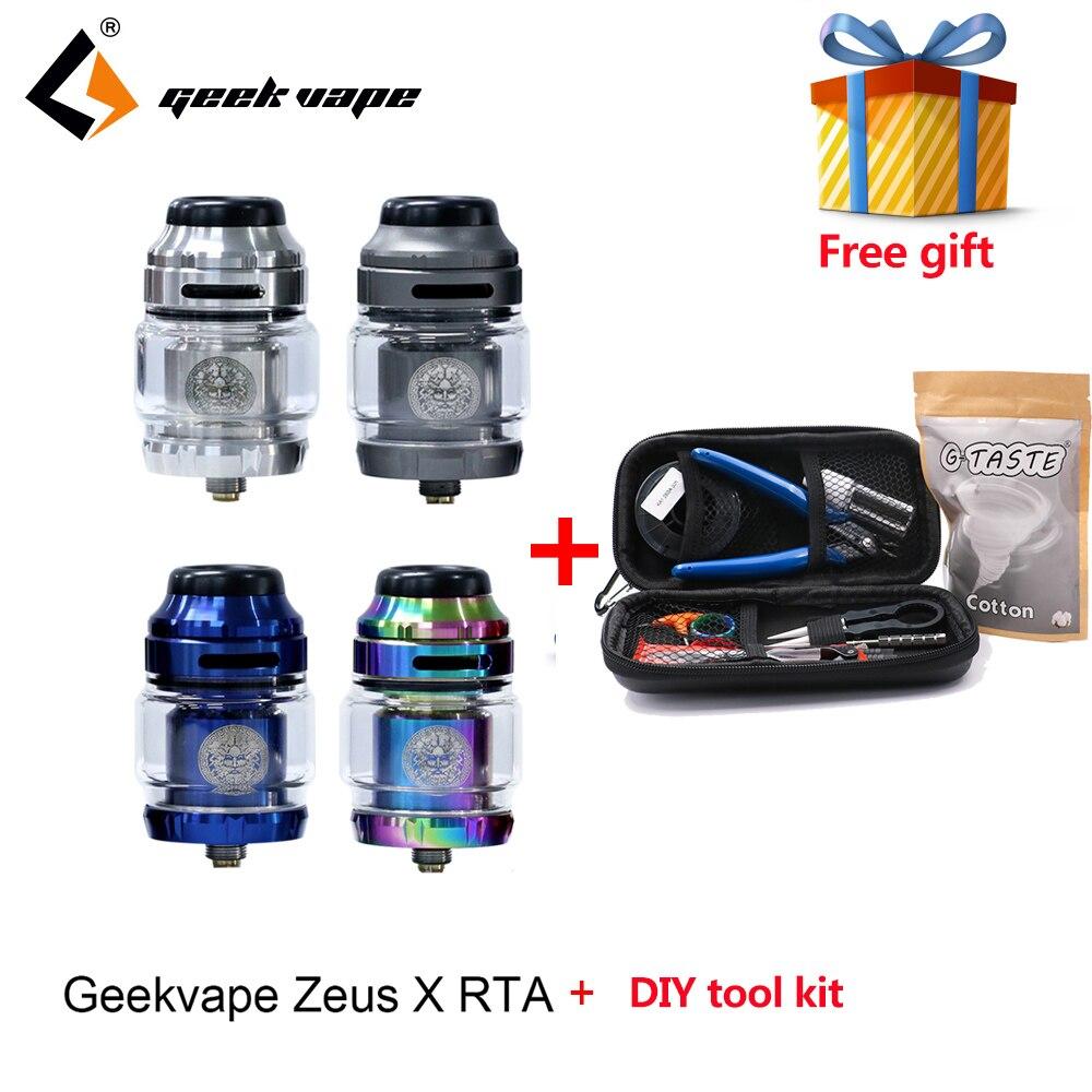 Regalo libero Geekvape Zeus X RTA 4.5 ml serbatoio 510 filo vape serbatoio fit aegis mod vaporizzatore atomizzatore withG- GUSTO Tool Kit FAI DA TE