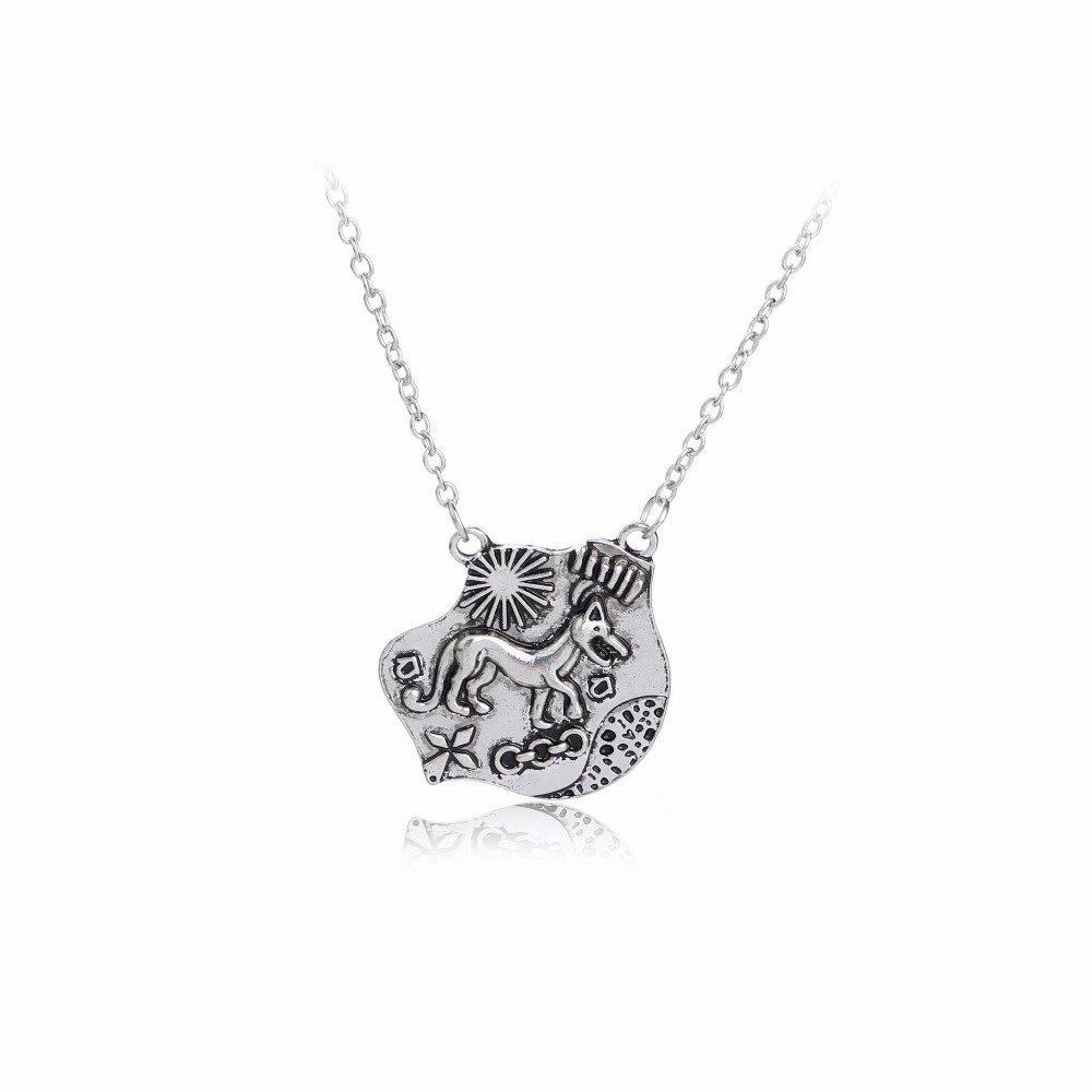 Movie Teen Wolf Pendant Vintage Antique Personality Wolf Chain Necklace For Men
