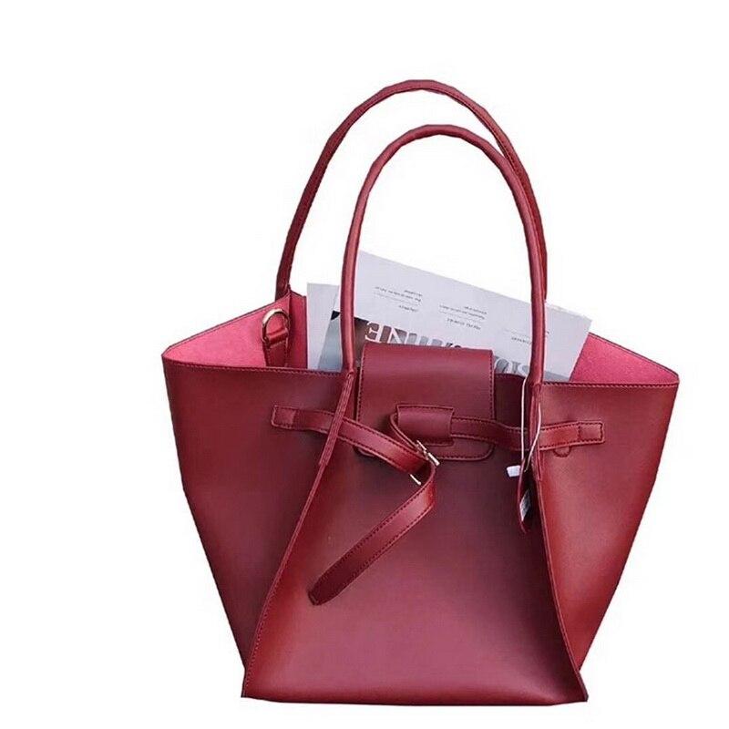 Women Large Causal  Shoulder Tote Bag Ins 2018 Hot Large Capacity Lady Ladies Handbags 2PCS Women Composite Bag Female Purses high quality tote bag composite bag 2