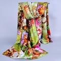 Новые женские аксессуары атласная шарфы кутюр шелковые шарфы 2017 бренд Большой бабочки цифровой печати женский шарф