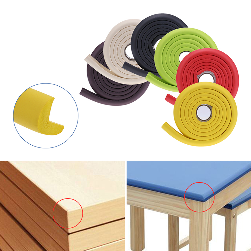 2m Rubber Baby Corner Guards Anti-knock Strip Protector Edge Cover Strip For Kids Safety Table Desk Edge Guard Strip Dropshipp