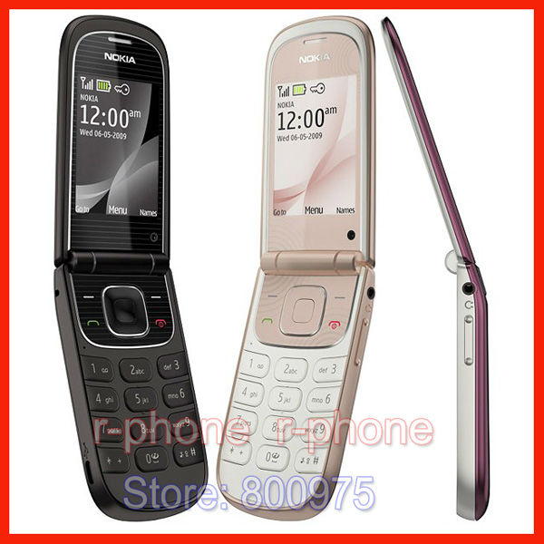 Refurbished 3710 Original Nokia Flip 3710f Unlocked Cell Phone 3G 3 2MP English Russian Arabic Hebrew