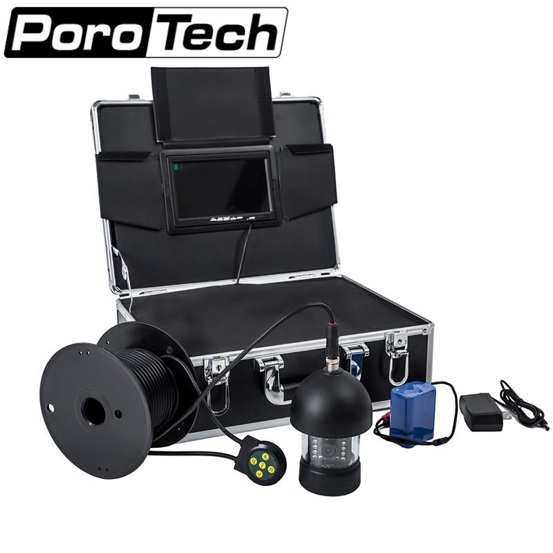 F18 100 M 360 degrés caméra panoramique détecteur de poisson sous-marin Kit de pêche Finder 18 lumière blanche mer sous-marine poisson caméra