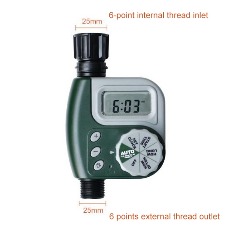 Battery Operated Single Outlet Electronic Digital Programmable Faucet Timer Cycles Easily From Set Clock