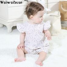 Waiwaibear Baby Girls Print Sets New Arrival Summer Toddler Kids Tops+Short Pants 2PCS Sets Baby Girls Cute Clothing Sets TN3 недорого