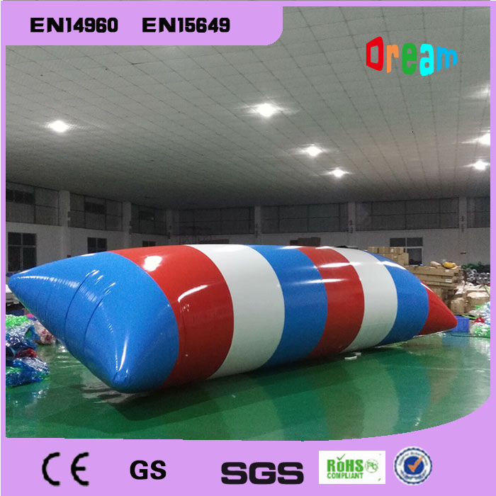 Free Shipping 7*3m Inflatable Water Pillow Inflatable Water Blob Jump Bag Inflatable Trampoline(Free Pump+Repair Kits)  free shipping 7 3m inflatable water pillow inflatable water blob jump bag inflatable trampoline free pump repair kits