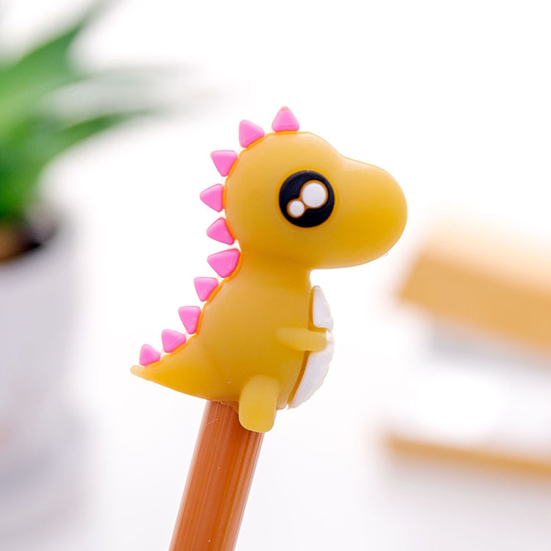 1 Pcs  Korea Creative Little Monsters Neutral Pen Cute Cartoon Dinosaur Students Stationery Black Pen Shape Kawaii Stationary