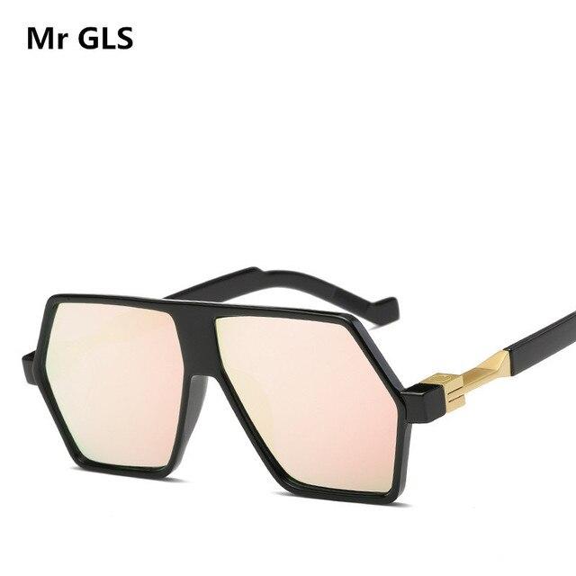 ee1927eb2 New Fashion Irregular Hexagonal HD Mirror Sunglasses Women Men Brand  Designer Sun Glasses For Lady Sunglass Female Mirror X43