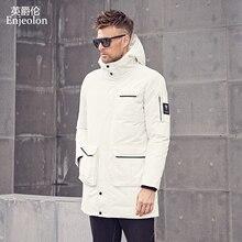 Enjeolon Brand Winter Cotton Padded Jacket Men Long Jacket Men Thick Hoodies Parka Coat Male Quilted Winter Jacket Coat MF0626 цена