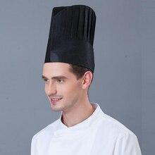 10 Pcs cappello da Cuoco cap fibra di carta usa e getta non tessuto cap  cappello rosso in bianco e nero di alta cappello hotel r. 86e920b055b0
