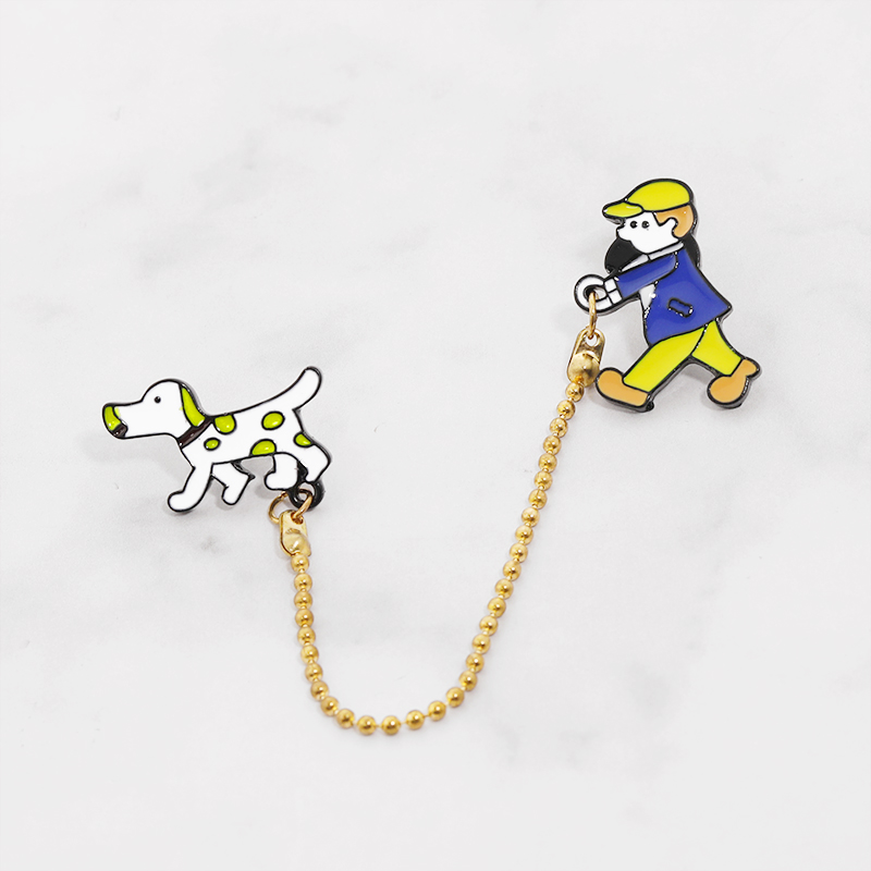 Cute Boy Dog Icon Badge Metal Brooch Lovely Pin For Clothes Bag Diy Craft Decoration Accessory Ornament High Quality in Brooches from Jewelry Accessories