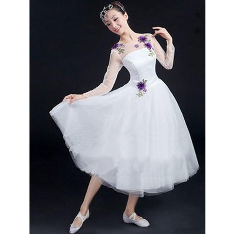 4821 Vestidos De Ballet Con Flores Para Adultos O Niños Vestidos De Ballet Largos Románticos Para Mujeres Tutús De Ballet Blancos Venta Al Por