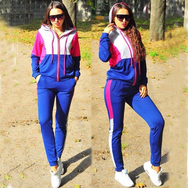 Zogaa Women two piece set top and pants Casual Sport Suit Plus Size Tracksuit \Womens 2 Piece Sets 2018 Zipper Tracksuit Female