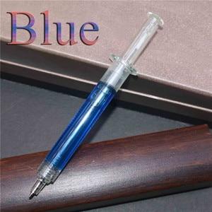 Image 5 - 펜 도매 200 pcs 0.7mm 스틸 펜 주사기 매직 볼펜 파란색 잉크 학생 사무실 편지지 크리 에이 티브 선물 장난감 펜