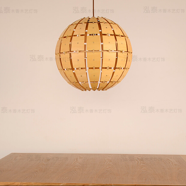 D 400 or 600 mm DIY American Modern Wood Pendant Light Fixtures ...
