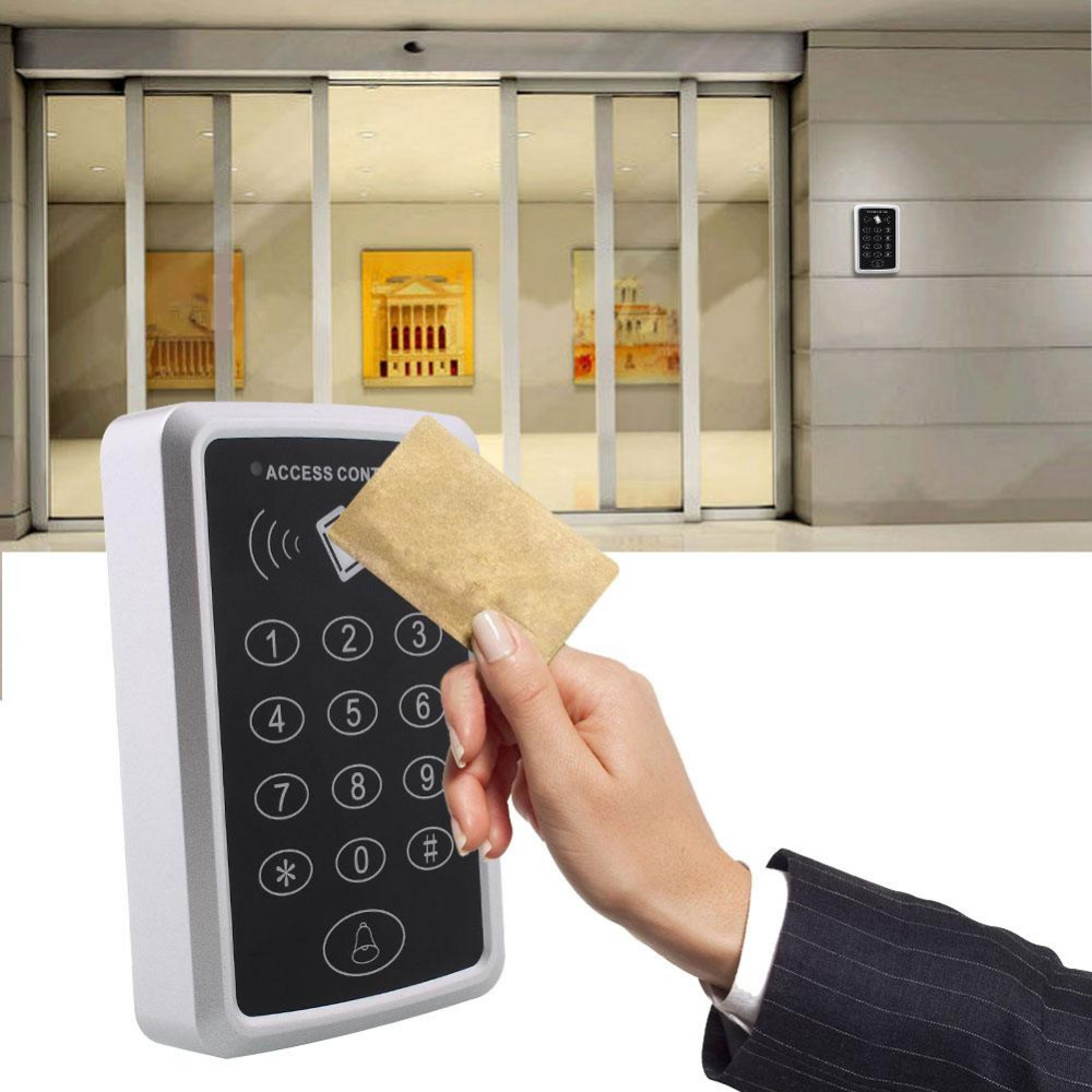 125Khz 12V RFID Security Entry Door Reader Card With Keypad Mini Portable Proximity Smart ID Access