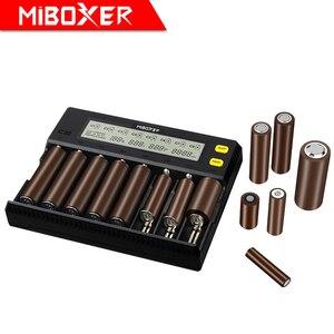 Image 3 - MiBOXER C8 pil şarj cihazı 8 yuvaları lcd ekran Li ion LiFePO4 Ni MH ni cd AA 21700 20700 26650 18650 17670 RCR123 18700