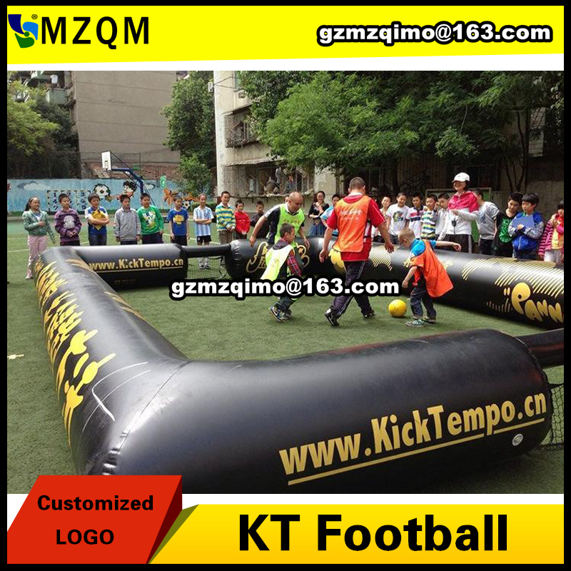 7X5m inflatable KT football field, durable inflatable soccer field for sale, cheap football court for kids free shipping juegos inflables 16x8 meters inflatable soccer field football court with pvc material for kids