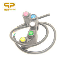 Motorcycle Switch Universal 12V 5A Scooter Modified 7/8 22mm Multifunctional Handlebar Lights On Off  Start 5 Button Switches