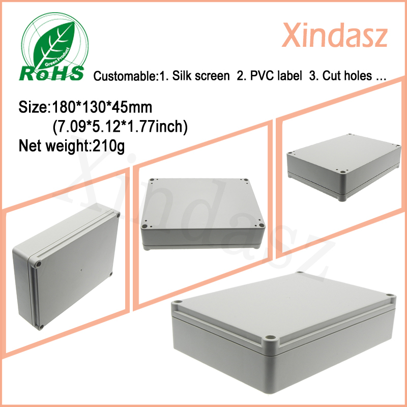 180*130*45mm plastic box project waterproof container plastic distribution box electrical plastic box white plastic cuboid 2 4 way power distribution box guard cover