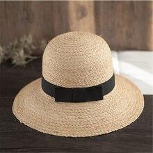 Lafite straw hat female summer folding visor simple bow casual sun hat  S45(China) a9498b0db6dd