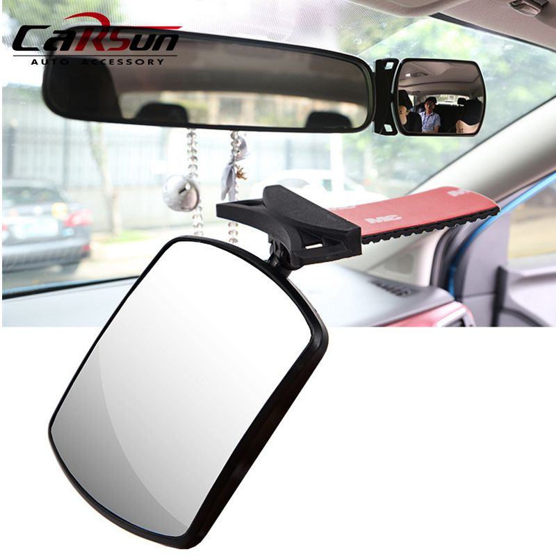 CAR INTERIOR WIDE REAR VIEW MIRROR 29 CM ADJUSTABLE SUCTION ADHESIVE DRIVING GLASS MINIVAN VAN TAXI CAB WINDSCREEN