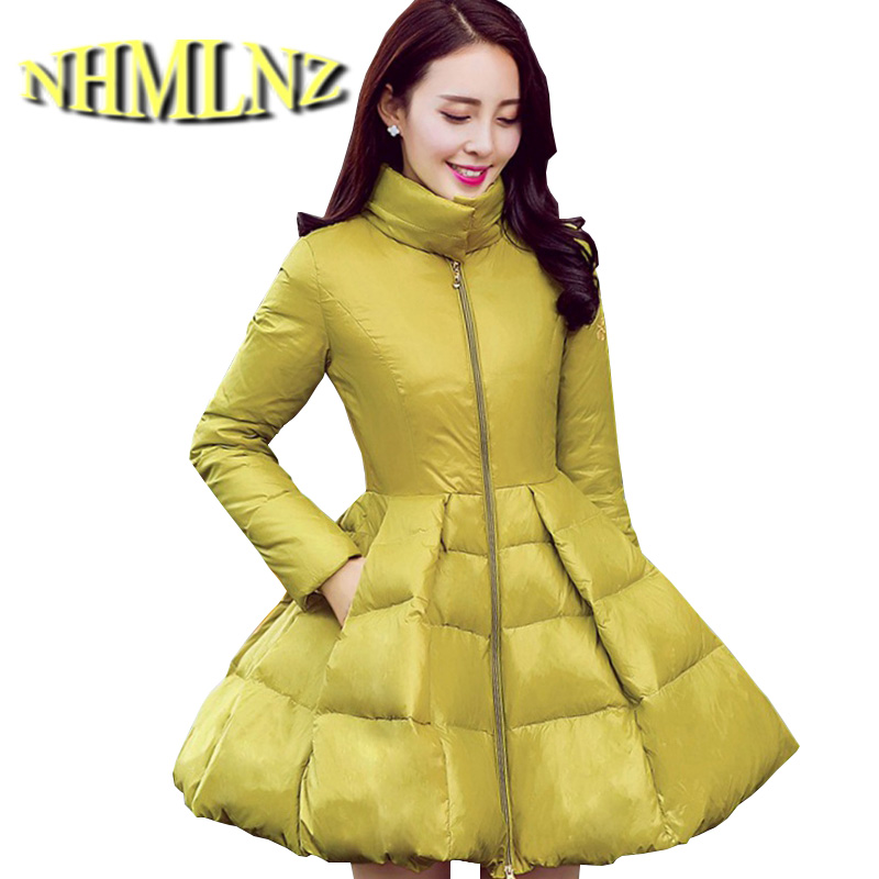 Korea New Women Fashion Winter cotton jacket Standing collar Cloak Medium long Coat Big yards Leisure Slim Thick Warm Coat G2237 winter students women coat new style loose big yards jacket long sleeve medium long hooded jacket thick cotton warm coats g2707