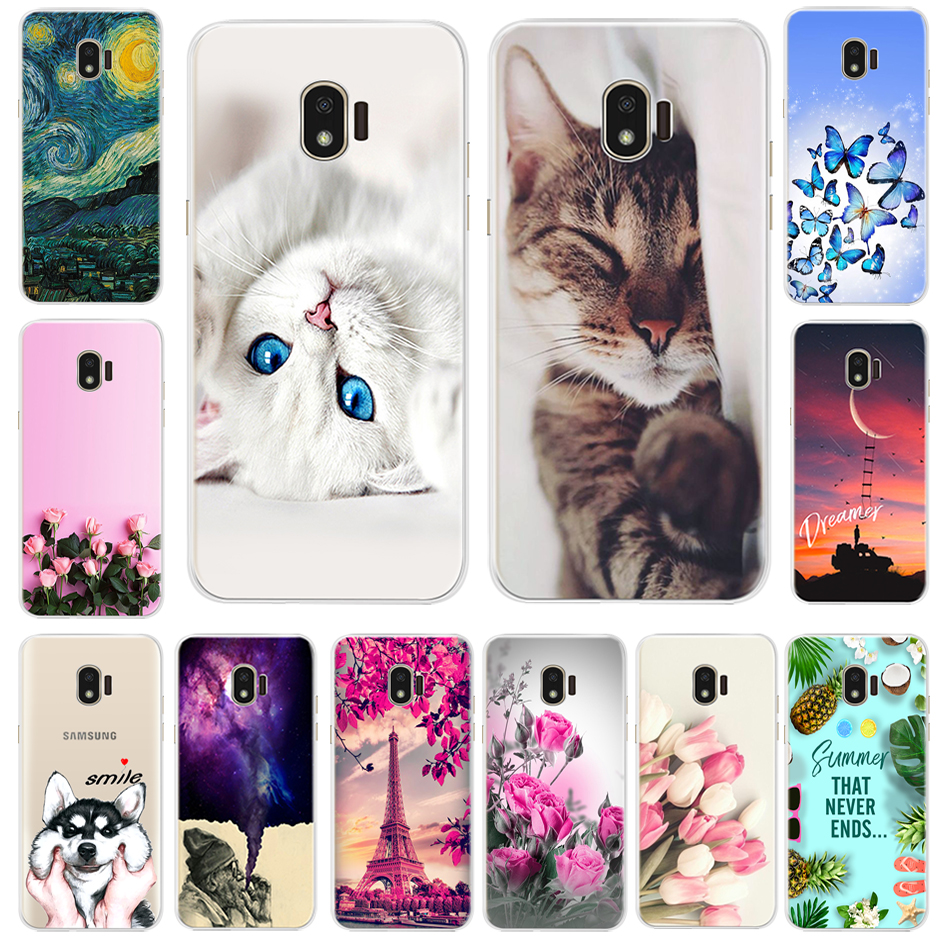 Painting Case For Samsung Galaxy J2 2018 J250 SM-J250F Soft Silicone Back Phone Case For Samsung J2 Pro 2018 J2Core J260F Cover