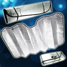 1pc Auto Windshield Sunshade Durable Reflective Sun Shade Car Visor Cover Wind Shield Silver Foldable