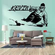 Luxuriant skiing Home Decoration Wall Art Decal Fashion Sticker For Kids Rooms Mural Living Room Decor Waterproof adesivi murali