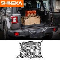 SHINEKA Stowing Tidying for Jeep Wrangler jl JK TJ YJ Universial Trunk Storage Net Accesorios for Jeep Wrangler jl JK TJ YJ|Stowing Tidying|   -