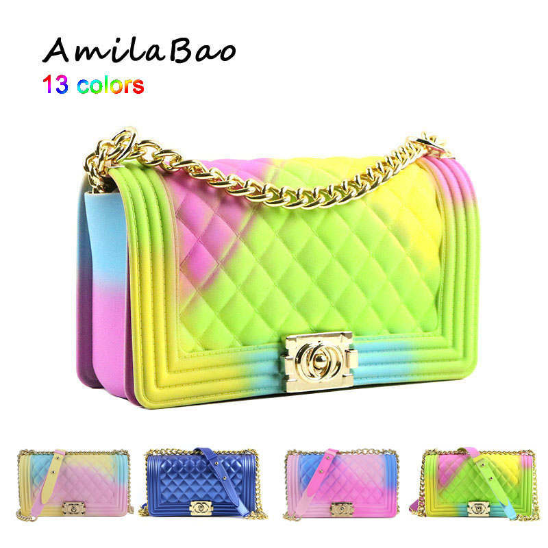 crossbody bags for women 2019 Summer candy beach luxury bags PVC Silicone jelly shoulder Messenger Bags Chains girl  ME939crossbody bags for women 2019 Summer candy beach luxury bags PVC Silicone jelly shoulder Messenger Bags Chains girl  ME939
