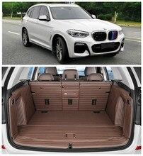 Para BMW X3 G01 G08 2018 2019 Completo Traseiro Tronco Bandeja Liner Carga Mat Piso Protector pé esteiras almofada Bordado couro