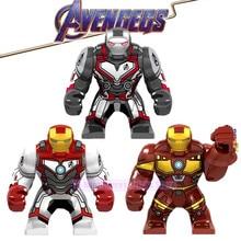 Avengers 4 Endgame Legoed Marvel Big Size Iron Man  Thanos Infinity Gauntlet Action Figures Building Blocks Children Gift Toys