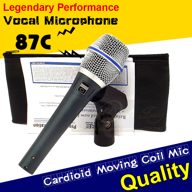 Free Shipping Quality BETA87C BETA 87C Wired Dynamic Microphone Vocal Mic Beta87A Beta 87 A 87A Karaoke Microphone Cardioid Mike