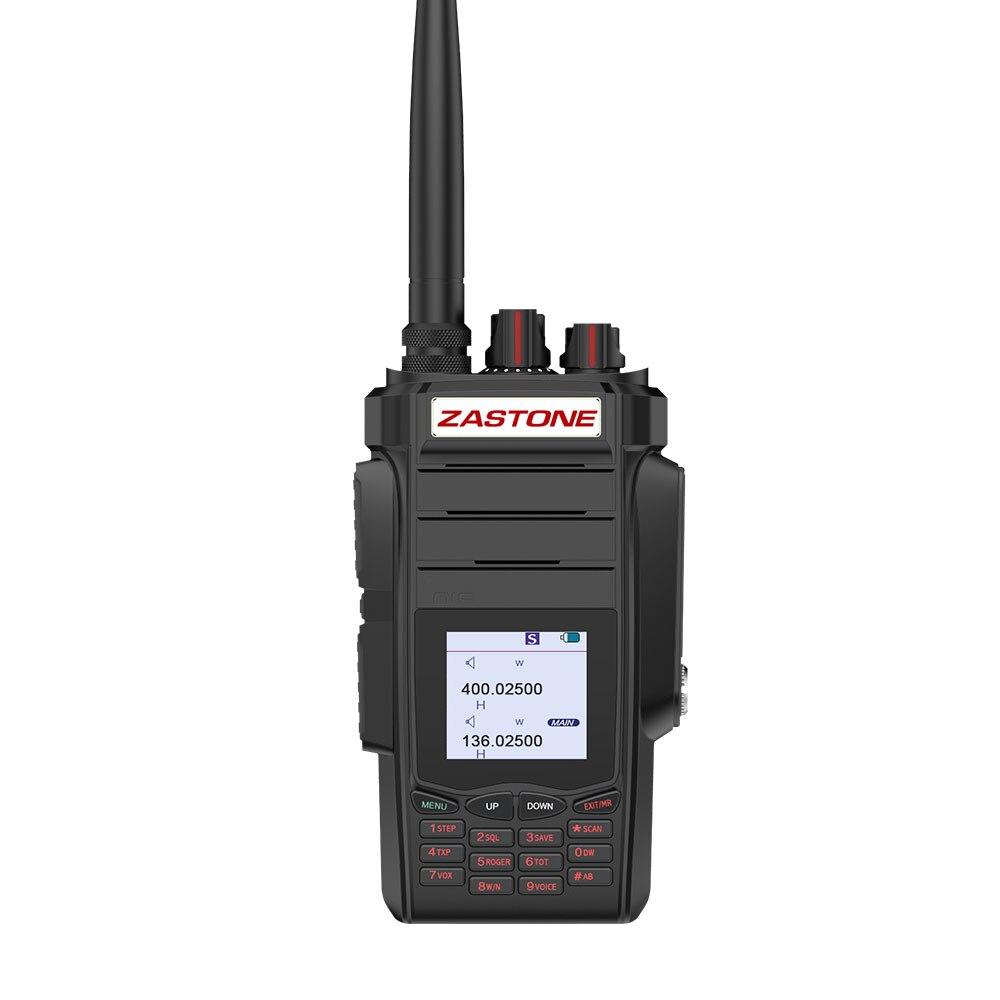 Zastone A19 Walkie Talkie 10W Dual Band UHF 400 480MHz VHF 136 174MHz 2800mAh Dual PTT